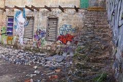 Verlassenes Yard Stockfotos