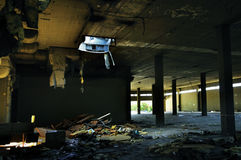 Verlassenes zerlumptes Material der Fabrik Lizenzfreies Stockfoto