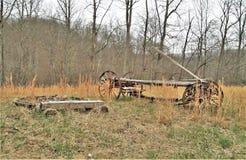 Verlaten Antieke Wagen stock fotografie