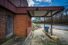 Verlaten bank in Luchtig Onderstel, Maryland royalty-vrije stock afbeelding