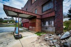 Verlaten bank in Luchtig Onderstel, Maryland royalty-vrije stock fotografie