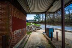 Verlaten bank in Luchtig Onderstel, Maryland stock foto's