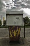 Verlaten benzinestation stock afbeelding