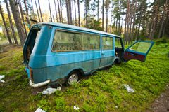 Verlaten Bestelwagen royalty-vrije stock foto's