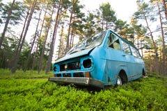 Verlaten Bestelwagen royalty-vrije stock foto