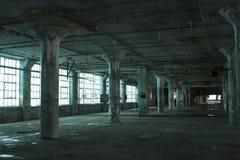 Verlaten blauwe vloer Stock Fotografie