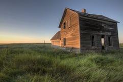 Verlaten Boerderij Saskatchewan Canada Stock Afbeeldingen