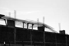 Verlaten bouwwerf stock afbeeldingen
