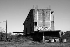 Verlaten bouwwerf stock foto's