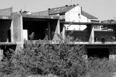 Verlaten bouwwerf stock foto