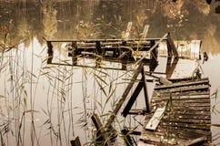 Verlaten brug Stock Afbeelding