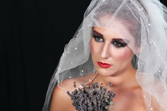 Verlaten bruid Royalty-vrije Stock Afbeeldingen