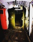 Verlaten bunker stock foto
