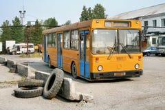 Verlaten bus royalty-vrije stock foto's
