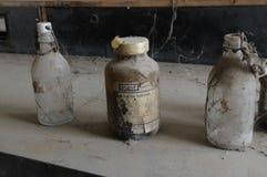 Verlaten chemisch laboratorium. royalty-vrije stock fotografie