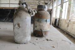Verlaten chemisch laboratorium. Stock Foto