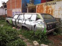 Verlaten Chevrolet-Impalastationcar Royalty-vrije Stock Foto's