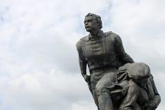 Verlaten communistisch monument dicht omhoog in Bulgarije, Oostelijke Europ Stock Afbeeldingen