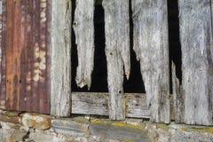 Verlaten Croft van Pasen Crannich op Dava Moor in Schotland stock fotografie