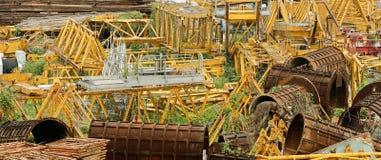 Verlaten de bouw materiaalgebied Stock Foto