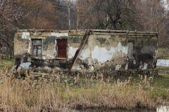 Verlaten de lentehuis dichtbij Tchernobyl Royalty-vrije Stock Afbeeldingen