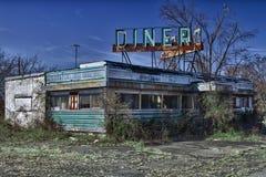 Verlaten Diner Stock Afbeeldingen