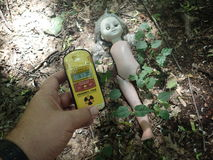 Verlaten Doll, Tchernobyl Royalty-vrije Stock Fotografie