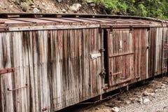 Verlaten, Doorstane Gesloten goederenwagen royalty-vrije stock afbeeldingen
