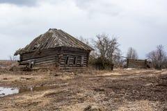 Verlaten dorp in de Russische provincie Royalty-vrije Stock Afbeelding