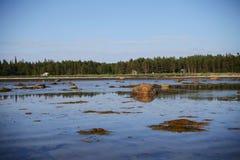 Verlaten dorp door het overzees Royalty-vrije Stock Afbeeldingen