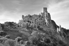 Verlaten dorp van Craco in Basilicata Stock Afbeelding