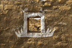 Verlaten dorp van Kuldhara in Rajasthan, India Royalty-vrije Stock Foto's