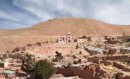 Verlaten dorp van Pulacayo, Bolivië Stock Foto