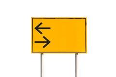 Verlaten draai en juiste verkeersteken Stock Afbeelding
