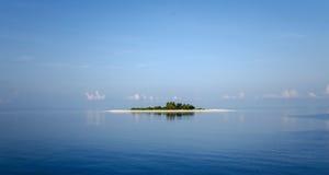 Verlaten eiland royalty-vrije stock foto's