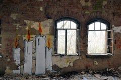 Verlaten en dilapidated stock afbeeldingen