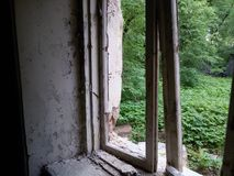 Verlaten en vernietigd door tijd, Parkensemble en landgoed stock foto