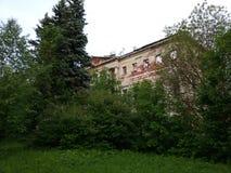 Verlaten en vernietigd door tijd, Parkensemble en landgoed stock foto's
