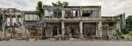 Verlaten Erfenishuizen, George Town, Penang, Maleisië Stock Afbeeldingen