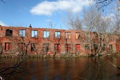 Verlaten Fabriek Stock Afbeelding