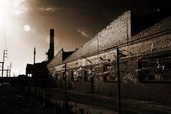 Verlaten fabriek Royalty-vrije Stock Foto's