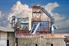 Verlaten fabriek Stock Foto