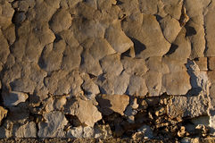 Verlaten fabriek - de textuur van de Muur, gebarsten pleister Royalty-vrije Stock Afbeeldingen