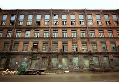 Verlaten fabriek, heilige-Petersburg Stock Foto's