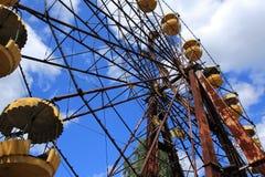 Verlaten Ferris Wheel, Extreem Toerisme in Tchernobyl Stock Foto's