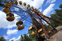 Verlaten Ferris Wheel, Extreem Toerisme in Tchernobyl Royalty-vrije Stock Afbeeldingen
