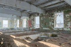 Verlaten gebouwenruïnes Stock Foto