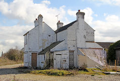 Verlaten gesloopt verlaten huis stock fotografie