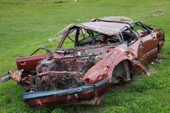 Verlaten gesloopte auto Royalty-vrije Stock Fotografie
