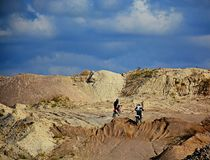 Verlaten Grintkuil - Motocross 2 Royalty-vrije Stock Afbeeldingen